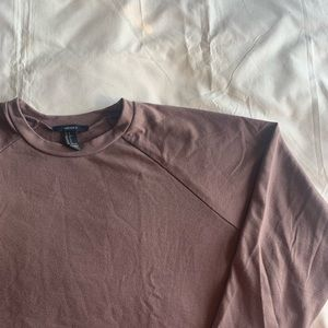 Mauve Cropped Sweatshirt